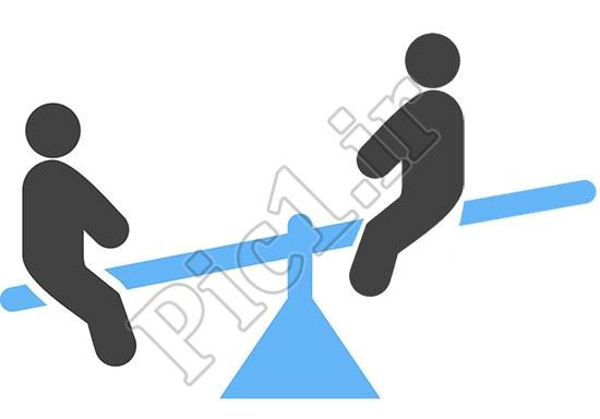 فاصله وزن بصری اشیاء نسبت به مرکز ثقل در تعادل عکس همیت دارد
